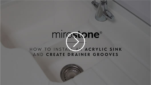 How to install an acrylic sink and create drainer grooves