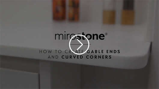 How to create gable ends and curved corners with Mirostone